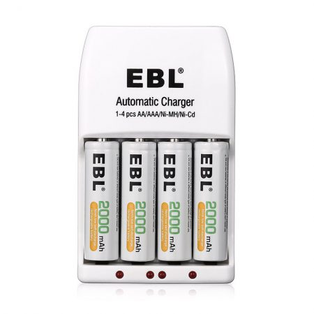 EBL Smart Battery Charger For AA And AAA Rechargeable Batteries