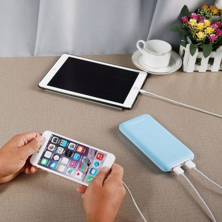 Pliot X8 Plus Sky Blue Power Bank External Battery 20000mAh