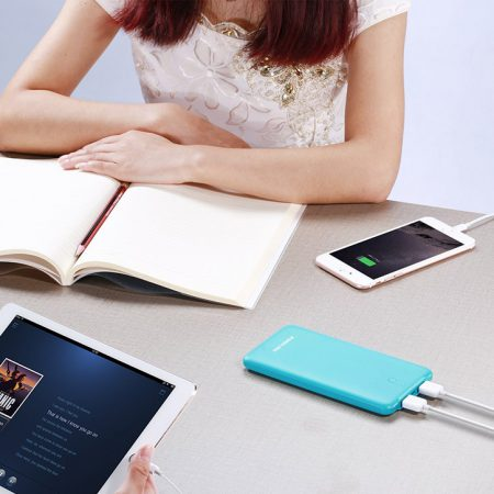 Durable Portable Charger 10000mAh Dual Output Power Bank