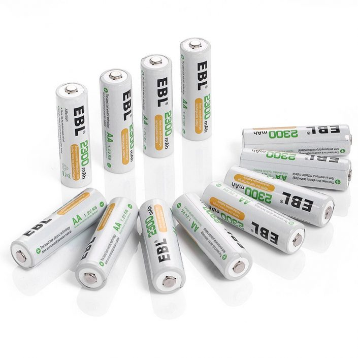 2300mAh NiMH Rechargeable AA Batteries Low Self Discharge