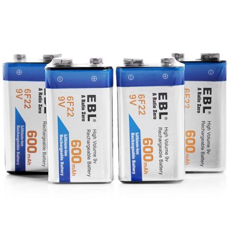 600mAh 6F22 9V Rechargeable Battery High Capacity