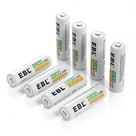 EBL AA NiMH 2800mAh Rechargeable Batteries