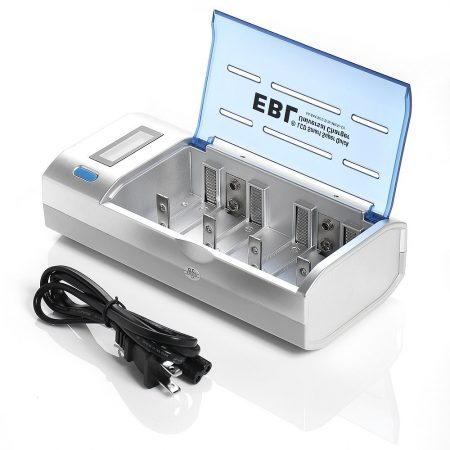 EBL Universal Battery Charger for AA AAA C D 9V NiMH NiCD Batteries