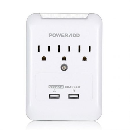 UL Listed USB Wall Outlet Surge Protector Power Strip