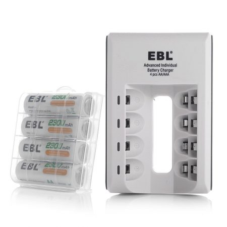 EBL Smart Battery Charger With 4 Pack 2300 mAh AA Batteries