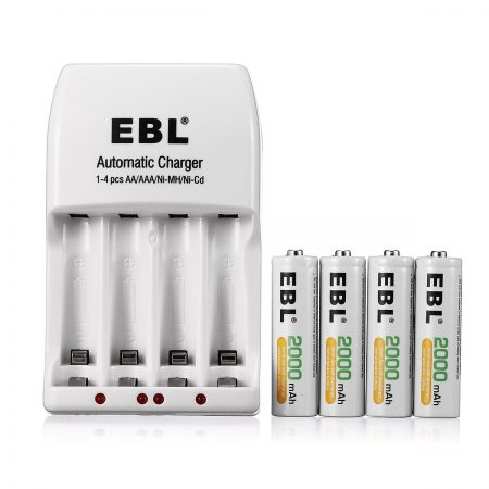 AA / AAA Rechargeable Batteries And Charger Combo