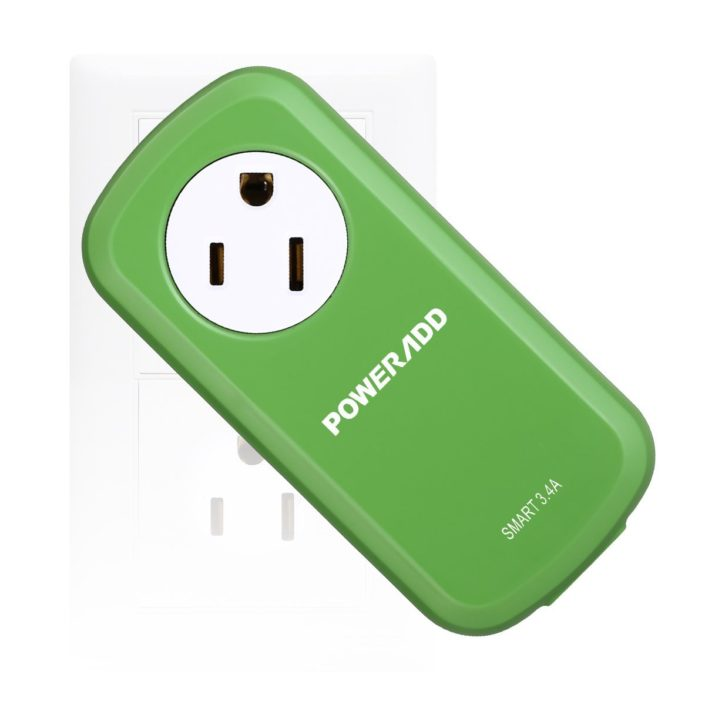 360° Electrical Outlet Green Power Strip With USB Charger