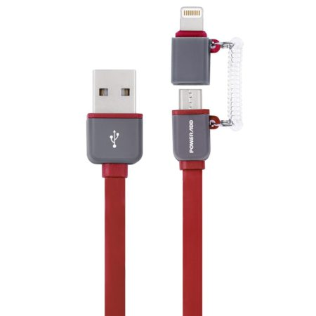 Multifunction 2 In 1 Lightning Micro USB Cable