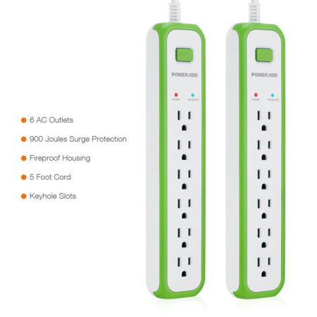 5-Foot Cord 900 Joules Surge Protector Commercial Power Strip