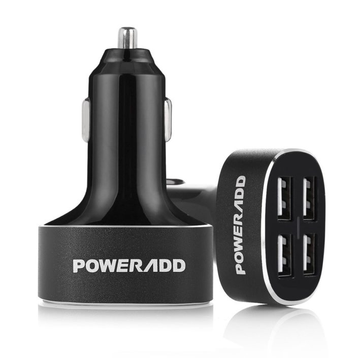 High Power 40W 4 Port USB Car Charger Adapter