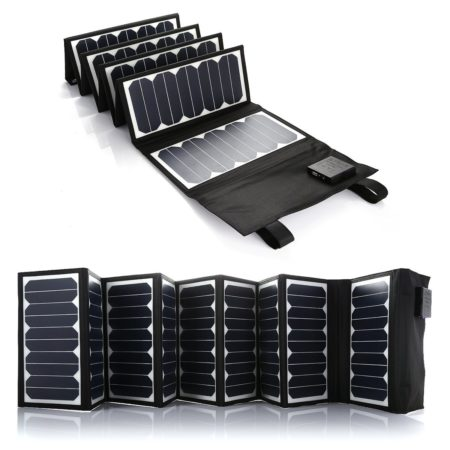 High Efficiency 60W Solar Panel USB Battery Charger
