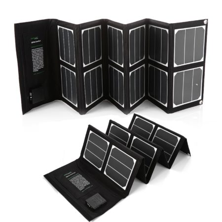 40W Foldable Solar Power Bank For Smartphone / Tablet