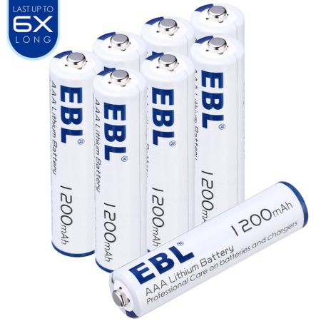 EBL 1.5V AAA Lithium Batteries Long Lasting 8 Pack