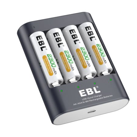 40Min iQuick EBL Smart Battery Charger With USB Port
