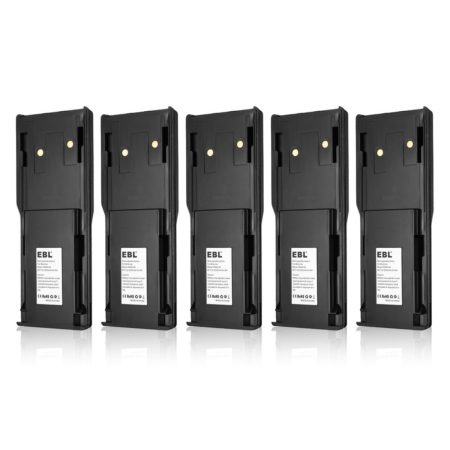 5-Pack Replacement Motorola Radio Battery Pack