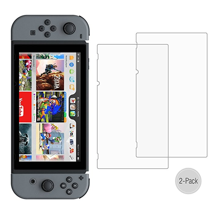 Poweradd Premium Tempered Glass Screen Protector For Nintendo Switch