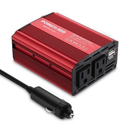 12V DC to 110V AC Car Power Inverter for Laptop / Cellphone