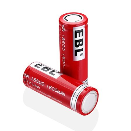 18500 1600mAh High Capacity Rechargeable Batteries