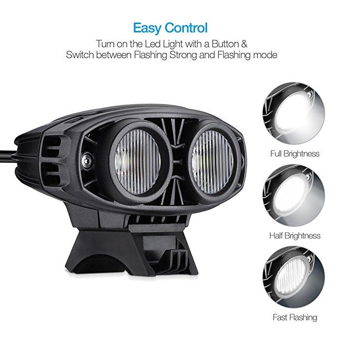Bluetooth Led Light For Bike Headlight Waterproof