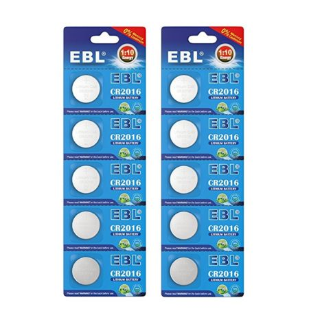 20 Pcs EBL 3 Volt Lithium Battery CR2016 Low Self Discharge