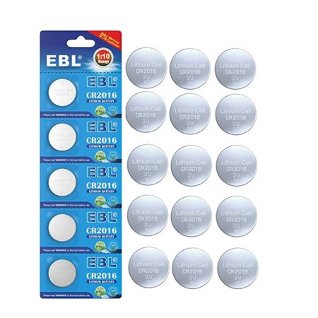EBL CR2016 3V Lithium Coin Cell Battery Zero Mercury Cadmium