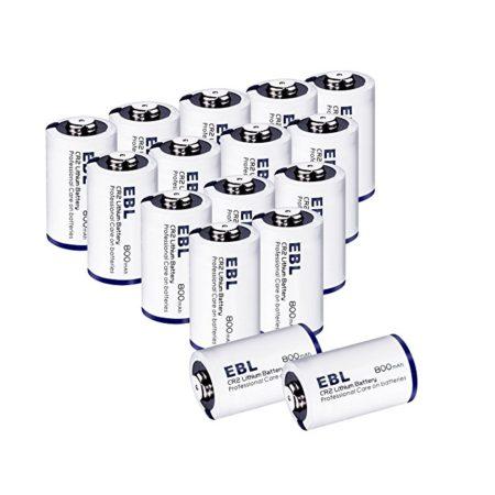EBL 800mAh CR2 3V Lithium Photo Battery Long Lasting