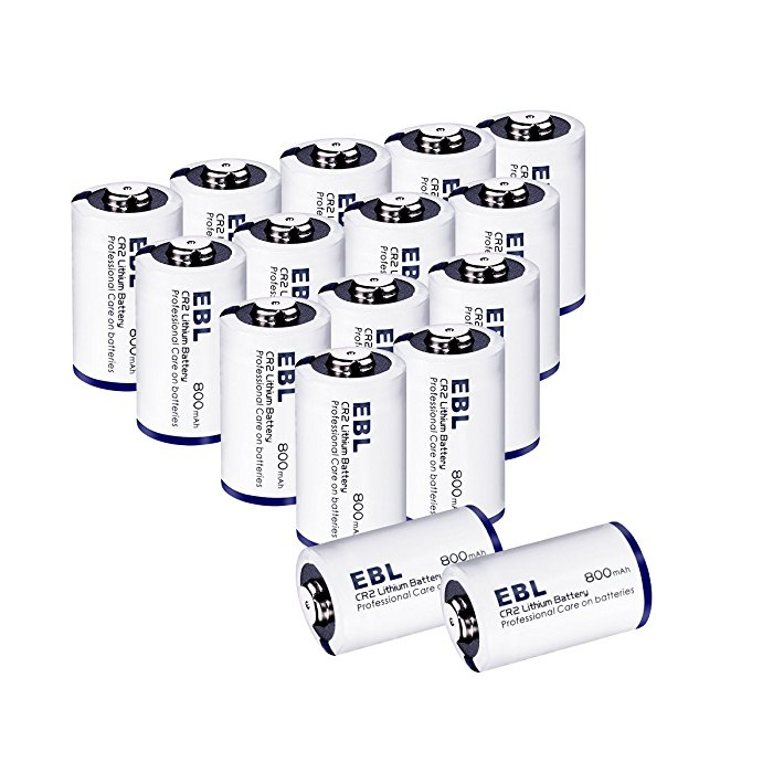 ebl 800mah cr2 3v lithium photo battery cylindrical long