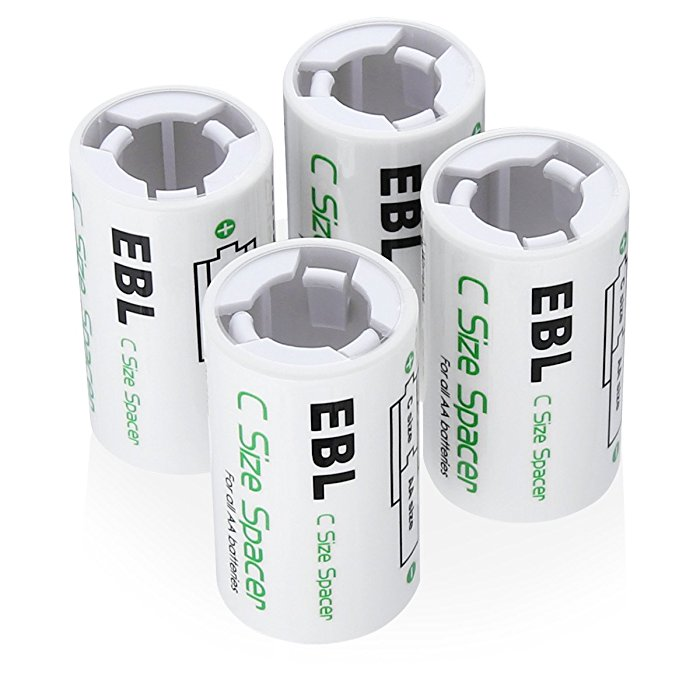 eco friendly c battery spacers to recycle aa rechargeable batteries. Black Bedroom Furniture Sets. Home Design Ideas