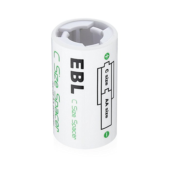 Durable C Size Spacer for Recycle AA Rechargeable Battery