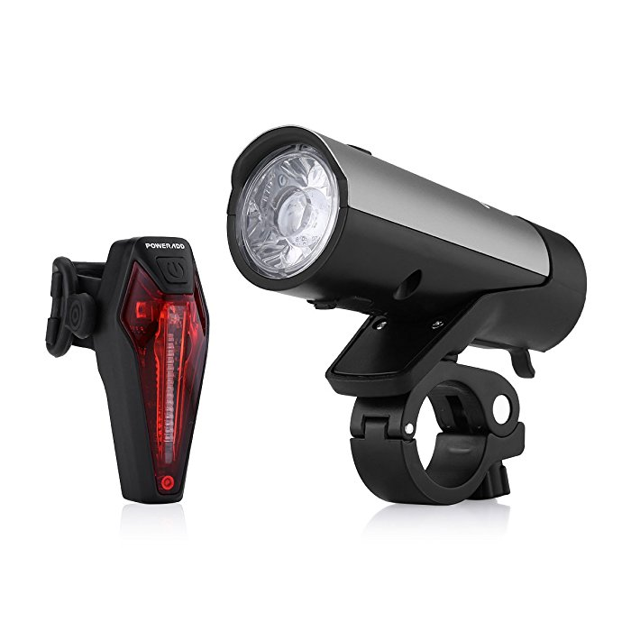 Rechargeable Bicycle Headlight and Taillight Set IPX-4