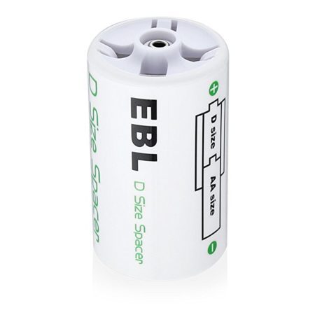 EBL Highly Safe D Battery Spacer ABS Plastic Material