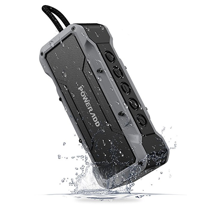Rugged Waterproof Bluetooth Speaker , Durable Bluetooth 4.2 Speaker